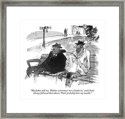 My Father Told Framed Print by Joseph Mirachi