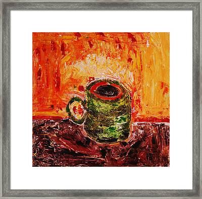 My Favorite Cup Framed Print by Ian  Fruehauf