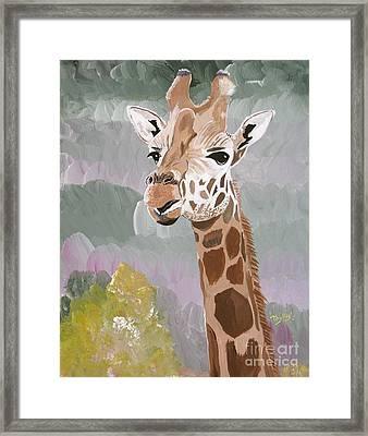 My Favorite Giraffe Framed Print