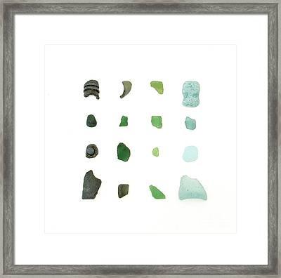 My Favorite Sea Glass Framed Print