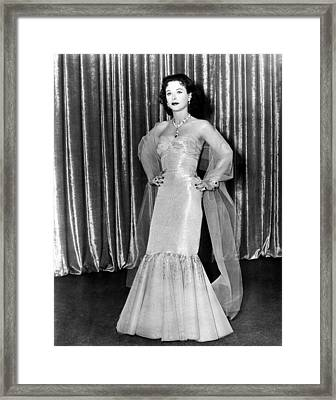 My Favorite Spy, Hedy Lamarr, In A Gown Framed Print by Everett