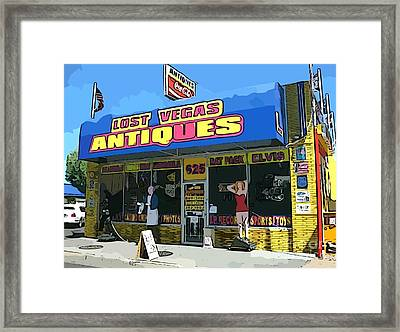 My Favorite Vegas Antique Store Framed Print by John Malone