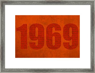 My Favorite Year 1969 Word Art On Canvas Framed Print