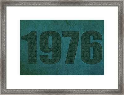 My Favorite Year 1976 Word Art On Canvas Framed Print by Design Turnpike