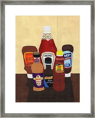 My Favourite Sauces Framed Print by Bav Patel