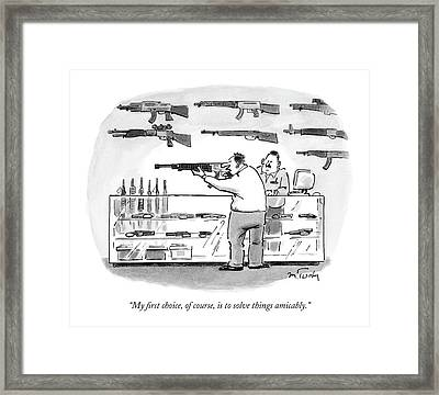 My First Choice Framed Print by Mike Twohy