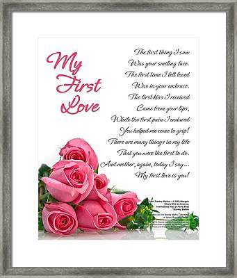 Framed Print featuring the digital art My First Love Poetry Art  by Stanley Mathis