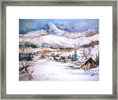 My First Snow Scene Framed Print