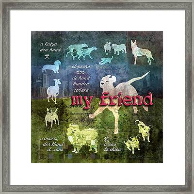 My Friend Dogs Framed Print