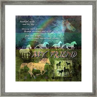My Friend Horses Framed Print