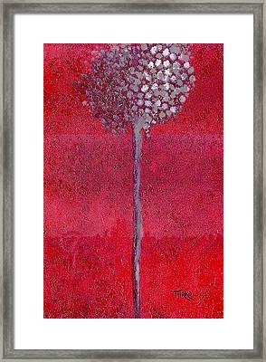 My Frosted Lotus Framed Print by Mirko Gallery