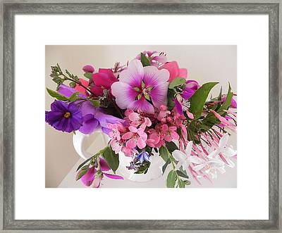My Garden's Delight Framed Print