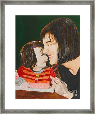 My Girl - Painting Framed Print by Veronica Rickard