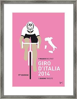 My Giro D Italia Minimal Poster 2014 Framed Print