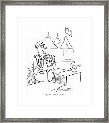 My God! Are You Sure? Framed Print by Mischa Richter