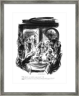 My God - It Tickles Your Nose! Is That All Framed Print by Leonard Dove