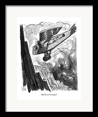 Passenger Plane Drawings Framed Prints