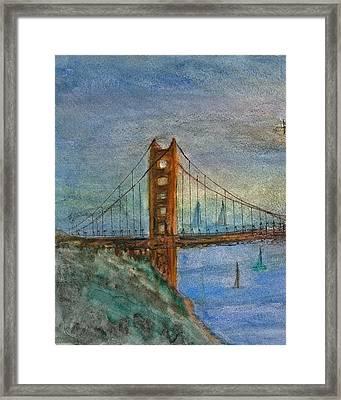 My Golden Gate Bridge Framed Print by Anais DelaVega