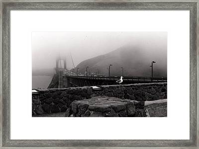 Framed Print featuring the photograph My Golden Gate...... by Tanya Tanski