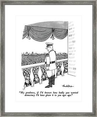 My Goodness Framed Print by J.B. Handelsman