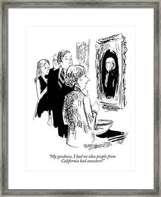 My Goodness Framed Print by William Hamilton