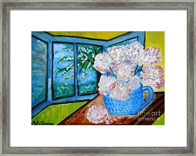 My Grandma S Flowers   Framed Print by Ramona Matei