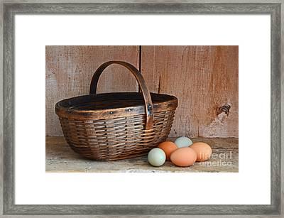 My Grandma's Egg Basket Framed Print