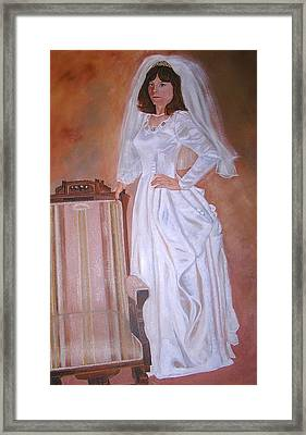 My Grandmothers Chair Framed Print by Sharon Schultz