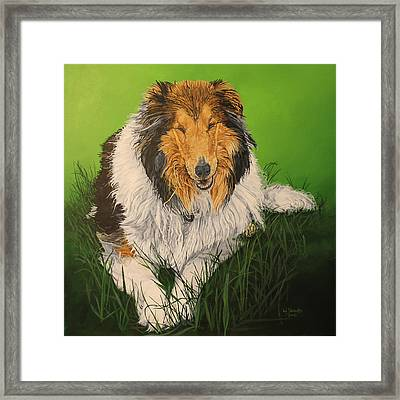 Framed Print featuring the painting My Guardian  by Wendy Shoults