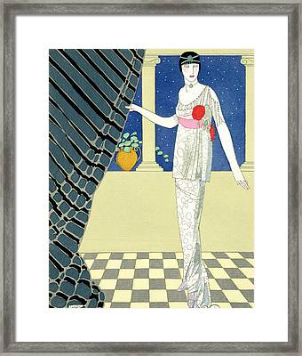 My Guests Have Not Arrived Framed Print by Georges Barbier