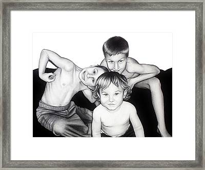 My Guys In 2010 Framed Print
