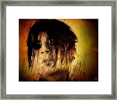 My Hair Is My Shield Framed Print by Gun Legler