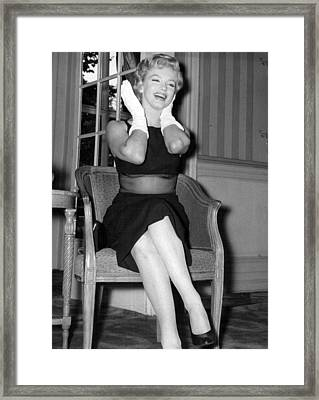Bashful Marilyn Monroe Framed Print