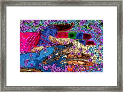 My Hand   Your Hand  And A Helping Hand Framed Print