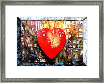 My Heart Belongs To My Daddy Framed Print