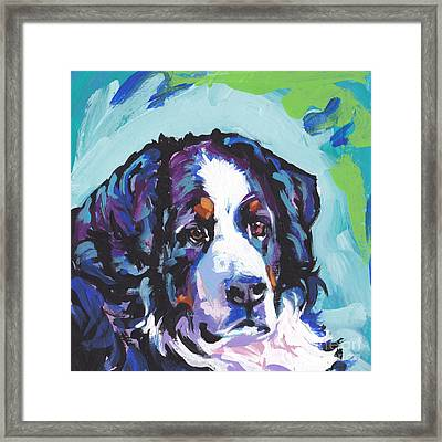 My Heart Berner Framed Print by Lea S