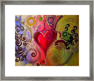 My Heart Framed Print