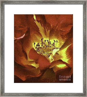 My Heart Inflamed Framed Print