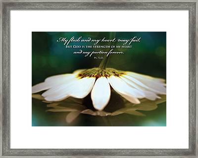 My Heart May Fail Framed Print
