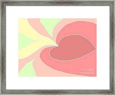 My Heart To You Framed Print