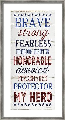 My Hero Framed Print by Jennifer Pugh