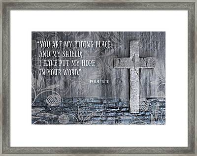 My Hiding Place Framed Print
