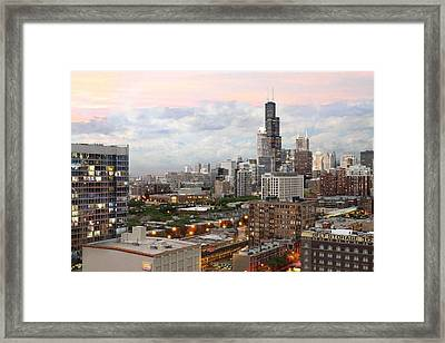 My Home Town Chicago Framed Print