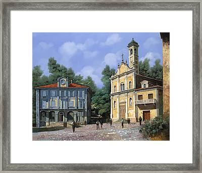 My Home Village Framed Print