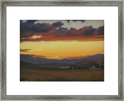 My Home's In Montana Framed Print by Mia DeLode