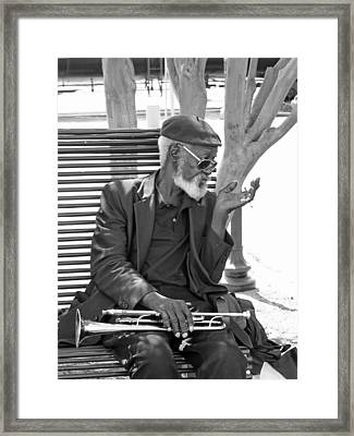Framed Print featuring the photograph My Horn by Bill Howard
