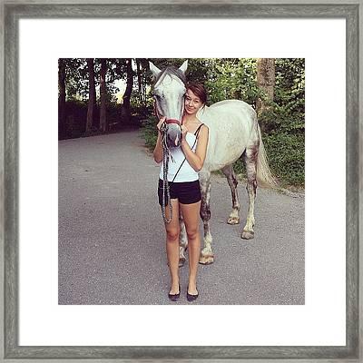 #my #horse #and #i #white #weiß Framed Print