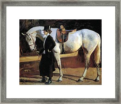 My Horse Is My Friend  Framed Print by Alfred James Munnings