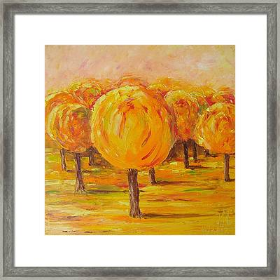 My Hot Autumn Framed Print
