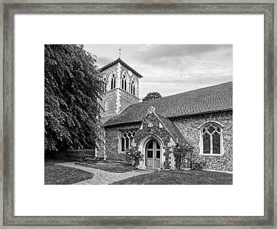 My House Is Yours - Ancient Stone Church Black And White Framed Print